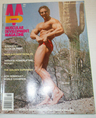 Muscular Development Magazine Pat Neve January/February 1976 112114R