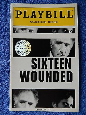 Sixteen Wounded - Walter Kerr Theatre Playbill - Opening Night - April 2004