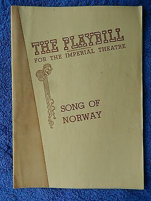 Song Of Norway - Imperial Playbill - March 1946 - Robert Shafer
