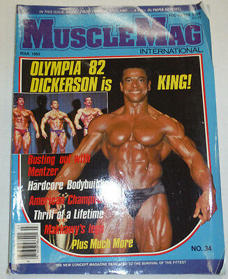 Musclemag Magazine Olympia 82 Dickerson Is King March 1983 112114R1