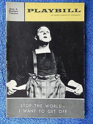 Stop The World - I Want To Get Off - Shubert Theatre Playbill - April 1963