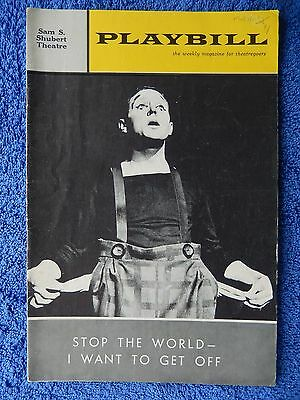 Stop The World - I Want To Get Off - Shubert Theatre Playbill - August 1963