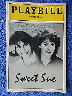 Sweet Sue - Royale Theatre Playbill - April 1987 - Mary Tyler Moore