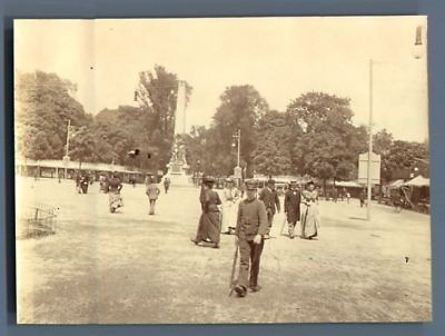 France, Nancy, Place Carnot  Vintage citrate print.  Tirage citrate  8x11