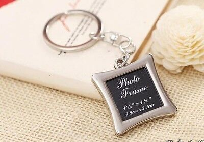1pcs Metal Cute Lovers Couples keychain Keyring Photo frame Keyrings Keyfob Gift