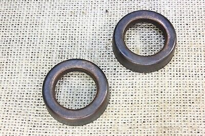 "2 Lightning rod ball end caps replacement 1 ⅜"" medium tarnished dark copper"