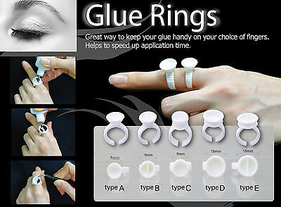 Eyelash Extension Disposable Glue Holder Ring 5 Types