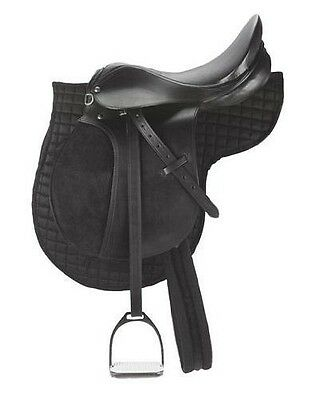 "Kerbl Cheval Kit de Selle Poney 16,0"" [Noir] - comprenant : selle, NEUF"