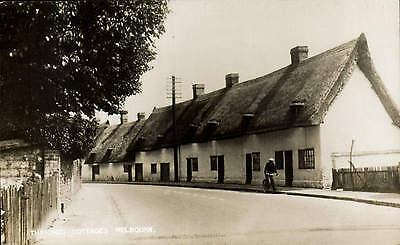 Melbourn. Thatched Cottages.