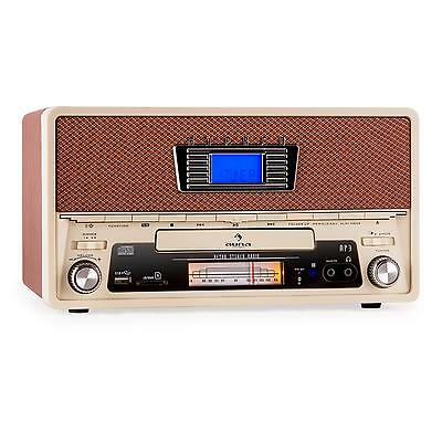 poste radio stereo vintage cd am fm usb mp3 sd aux bluetooth aux sleeptimer. Black Bedroom Furniture Sets. Home Design Ideas