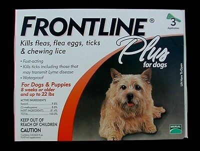 FRONTLINE PLUS For Dogs 0-22 lbs 3pk