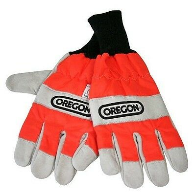 Oregon Large Chainsaw Protection Gloves - Oregon Scientific - Cuir NEUF