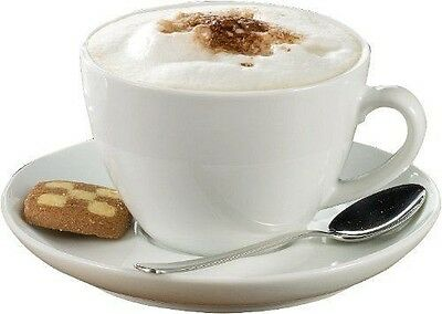Esmeyer - Tasses Bistro ``Cappuccino``, Porcelaine Blanche Pack 6  NEUF