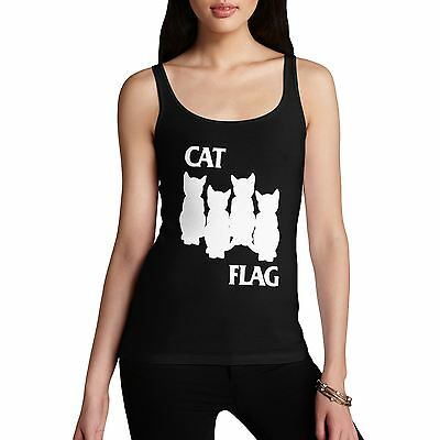 Women's Black Cat Flag Novelty Tank Top