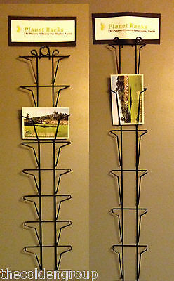 2 New Black 5 x 7 Greeting Card Wall Display Racks 1 Vertical 1 Horizontal