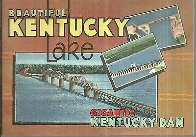Vintage Souvenir Book for Kentucky Lake in Kentucky and Tennessee Dam