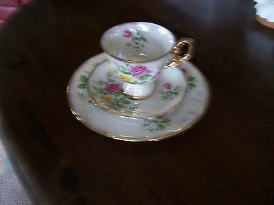 """UCAGCO China June Rose cup,saucer and 7 3/4"""" plate"""