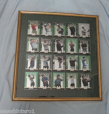 16 FOIL FINISH GOLF CARDS  IN A FRAME, TIGER WOODS etc