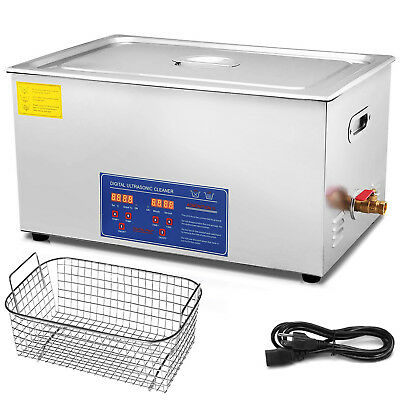 New Stainless Steel 22 L Liter Industry Heated Ultrasonic Cleaner Heater w/Timer