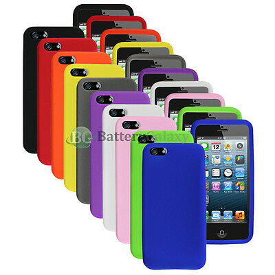 Lot of 10 Silicone Soft Slim Rubber Gel Case Cover Skin for Apple iPhone 5 5G 5S