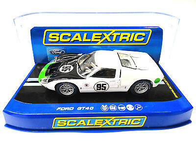 Scalextric US Exclusive Ford GT40 MKII W/ Lights 1/32 Scale Slot Car C3231