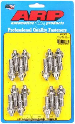 """ARP Header Studs 12-Point Nuts Stainless Polished 3/8""""-16 1.670"""" U.H.L. SetOf16"""