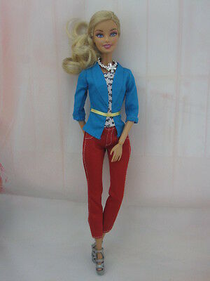 hot New Handmade lovely Dress Clothes For Barbie Doll Free Ship a1635