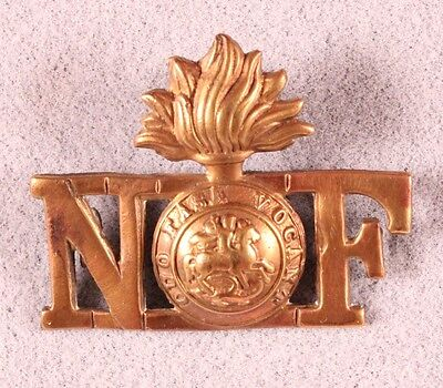 British Army Badge:  Northumberland Fusiliers, collar - brass