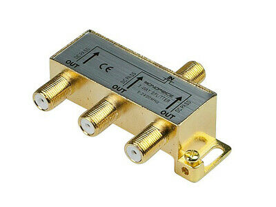 Monoprice 3 way Coax Cable Splitter F type Screw 5~2400 MHz Cable TV antenna