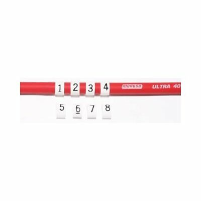 Moroso Spark Plug Wire Markers 8.5mm Plastic White with Black Numbers Set of 8