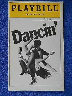 Dancin' - Broadhurst Theatre Playbill - October 1979 - Bruce Anthony Davis