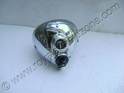 New Bsa , Triumph , Royal Enfield Lucas Vintage Model Type Headlight Chrome-Aaa