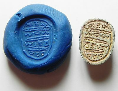 Zurqieh - Aac164- Exteremly Rare Inscribed Phoenician Steatite Scarab 8-7Th B.c