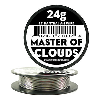 25 ft - 24 Gauge AWG A1 Kanthal Round Wire 0.51mm Resistance A-1 24g GA 25'