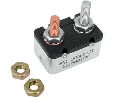 15 Amp Two-Stud Circuit Breaker Drag Specialties MC-DRAG020 Replaces OE 74589-73