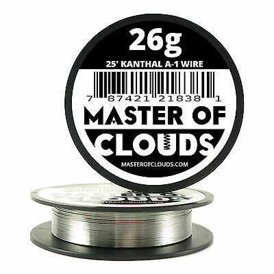 25 ft - 26 Gauge AWG A1 Kanthal Round Wire 0.40mm Resistance A-1 26g GA 25'