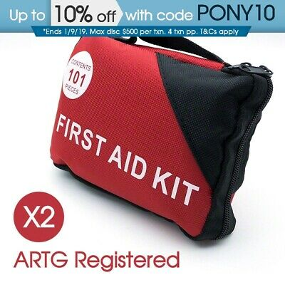 2x 101pcs Emergency First Aid Kit - A Must Have for Every Family ARTG Registered