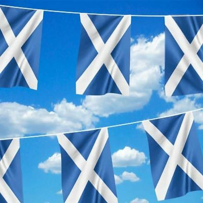 SCOTLAND FLAG ST ANDREW'S SALTIRE BUNTING RUGBY BUNTING 9M (30feet)