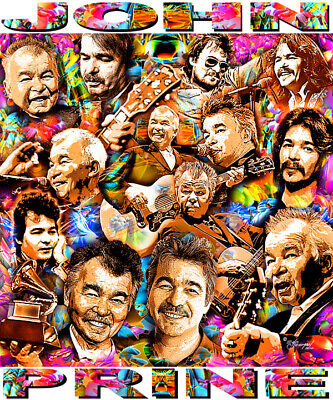 """John Prine"" Tribute T-Shirt Or Print By Ed Seeman"