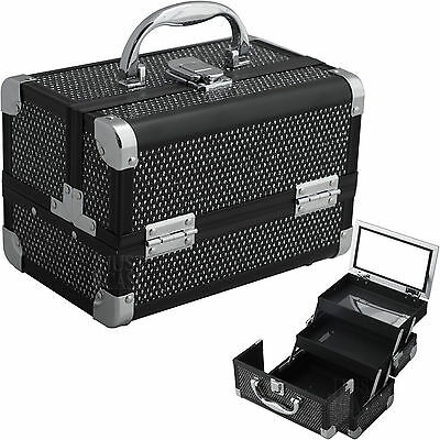 Small Makeup Train Case Aluminum Cosmetic Jewelry Travel Storage Organizer NIB