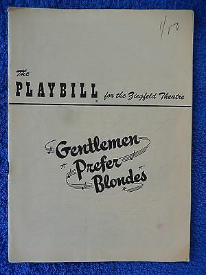 Gentlemen Prefer Blondes - Ziegfeld Theatre Playbill - January 1950 - Channing