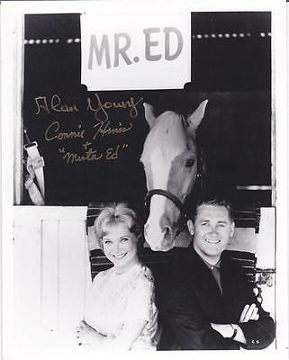 Alan Young & Connie Hines Dual Signed 8X10 'mr.ed' Autographed Photo Jsa Coa