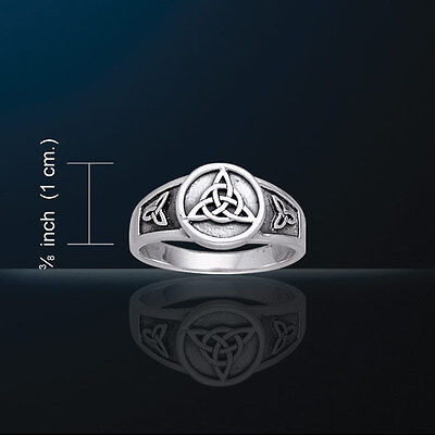 Celtic Knotwork Triquetra Ring  Charmed Symbol Signet Style Trinity Knot