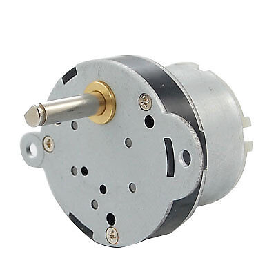 40mm DC 12V 4RPM High Torque Electric Gearbox Motor New