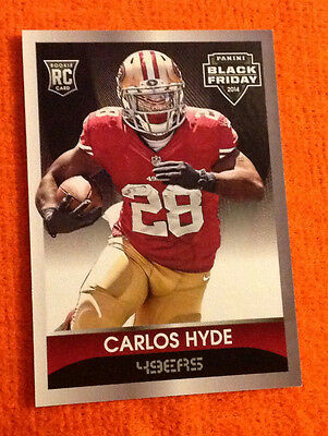2014 Black Friday Thick SP (50 Made) CARLOS HYDE 49ers RC #36 - Panini