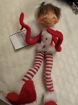 "Annalee Christmas ""Shimmermint Red Elf"" 2011 NWT"