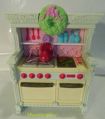 Fisher Price Loving Family Dollhouse Home for the Holidays Kitchen Stove NEW