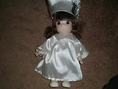 """Vintage Precious Moments Doll Brunette Graduation 12"""" tall New old Stock"""