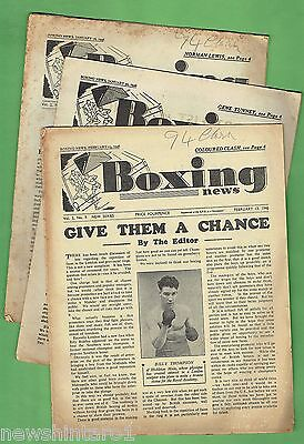 #t9.  Three 1946  British Boxing Magazines