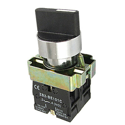 ZB2-BE101C Two 2 Position Rotary Select Selector Switch Self Lock 22mm 2 NO N/O